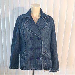 Liz Claiborne Denim Dress Jacket